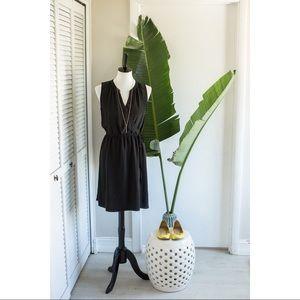 Versatile black silk dress